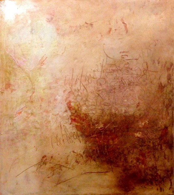 """Meraki"" encaustic, cold wax and oil on board"